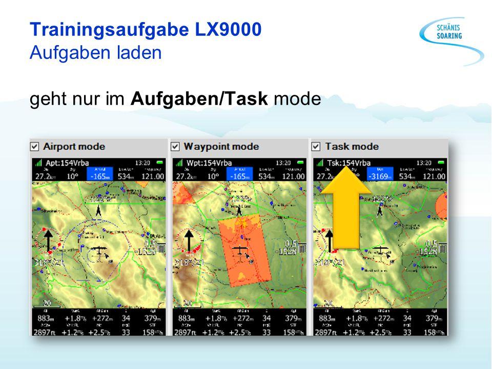 Trainingsaufgabe LX9000 Aufgaben laden geht nur im Aufgaben/Task mode