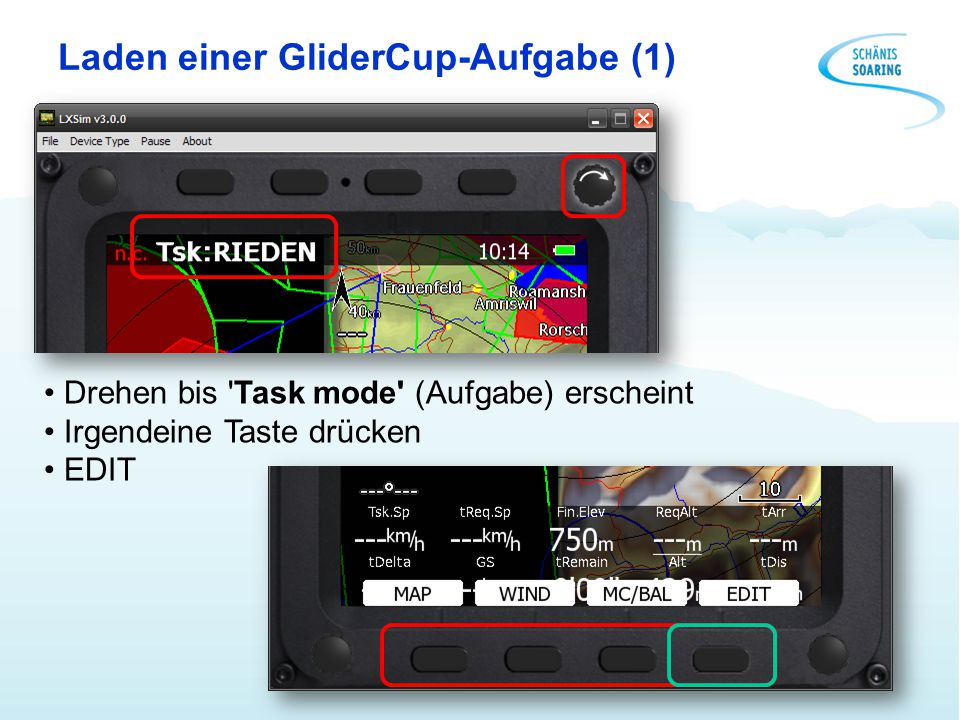 Laden einer GliderCup-Aufgabe (1)