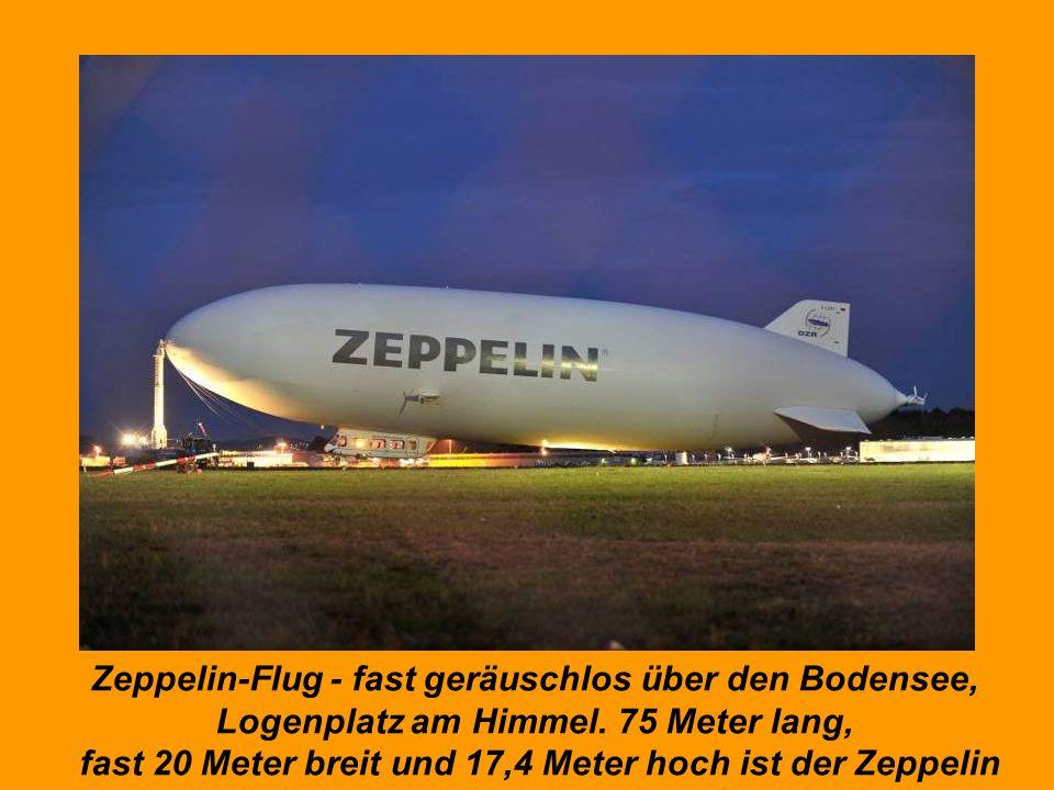 Zeppelin-Flug - fast geräuschlos über den Bodensee,
