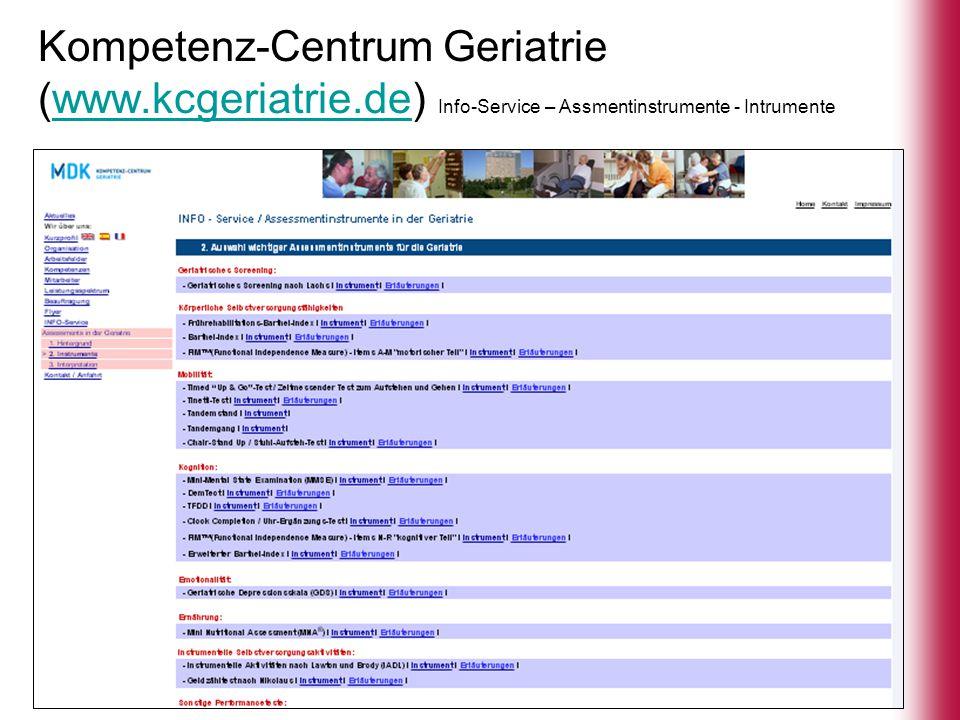 Kompetenz-Centrum Geriatrie (www. kcgeriatrie