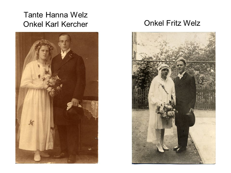 Tante Hanna Welz Onkel Karl Kercher