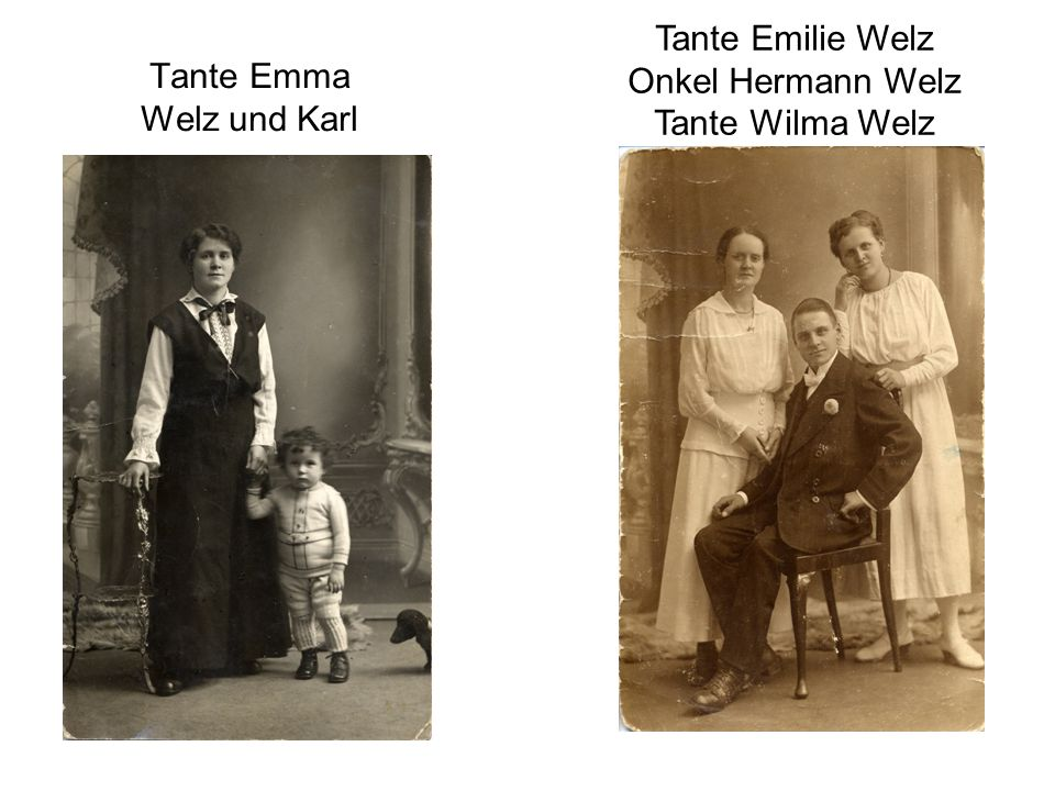 Tante Emma Welz und Karl