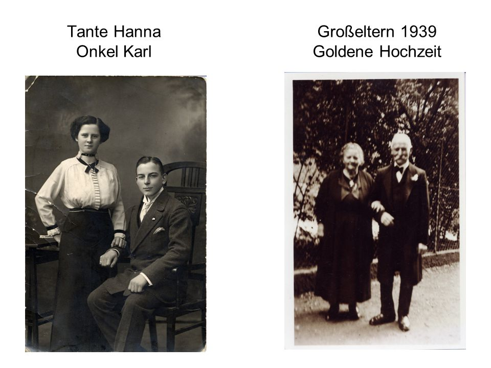 Großeltern 1939 Goldene Hochzeit
