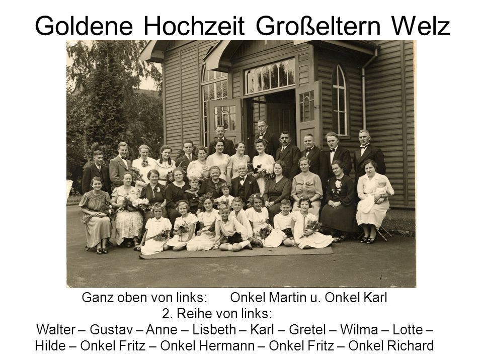 Goldene Hochzeit Großeltern Welz