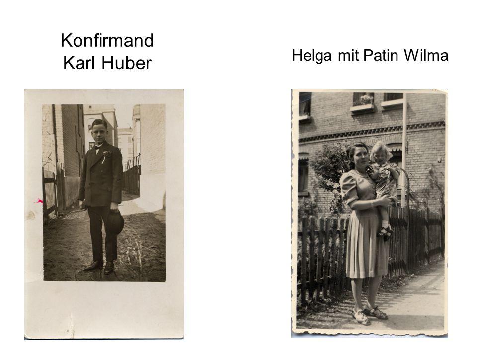 Konfirmand Karl Huber Helga mit Patin Wilma