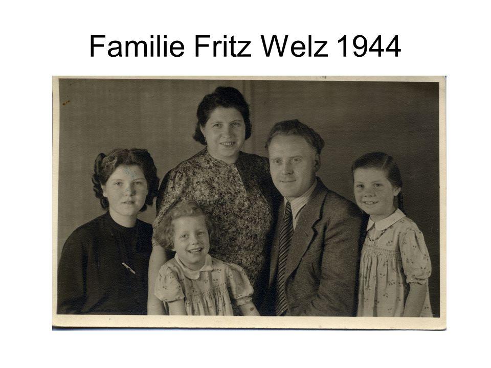 Familie Fritz Welz 1944