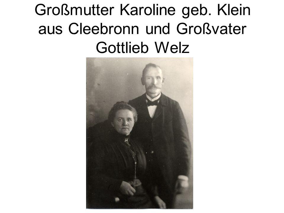 Großmutter Karoline geb