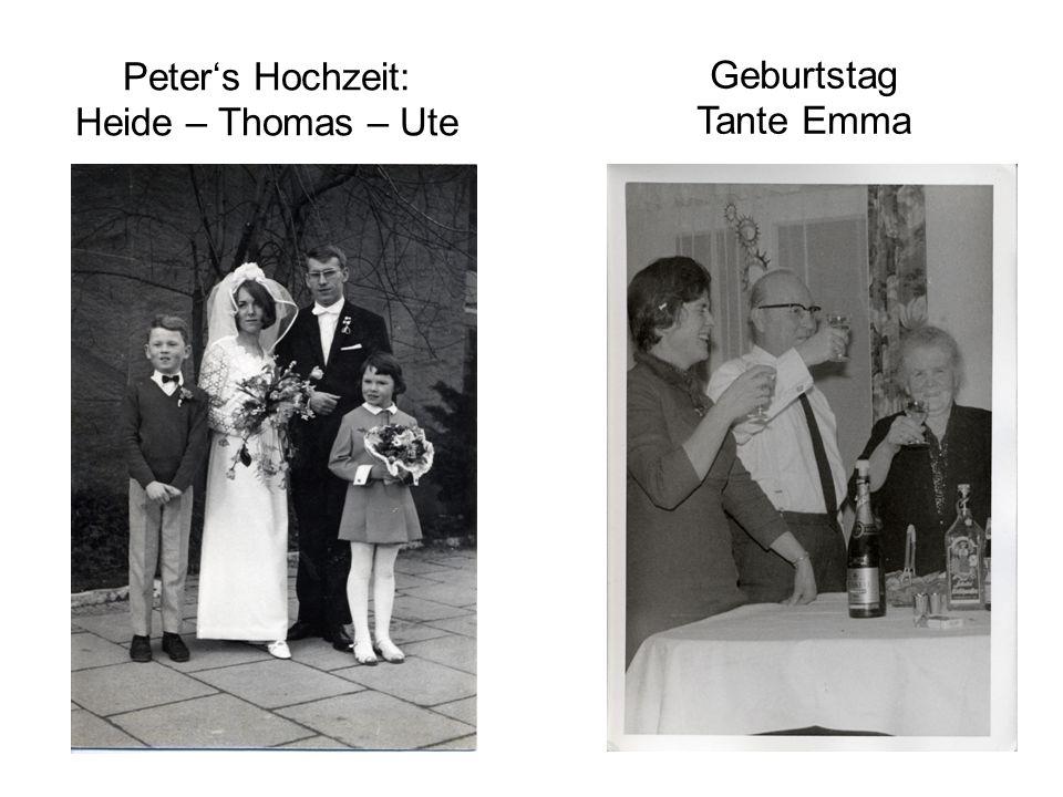 Peter's Hochzeit: Heide – Thomas – Ute