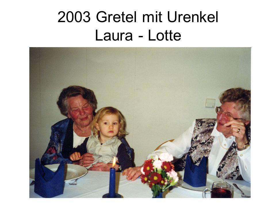 2003 Gretel mit Urenkel Laura - Lotte
