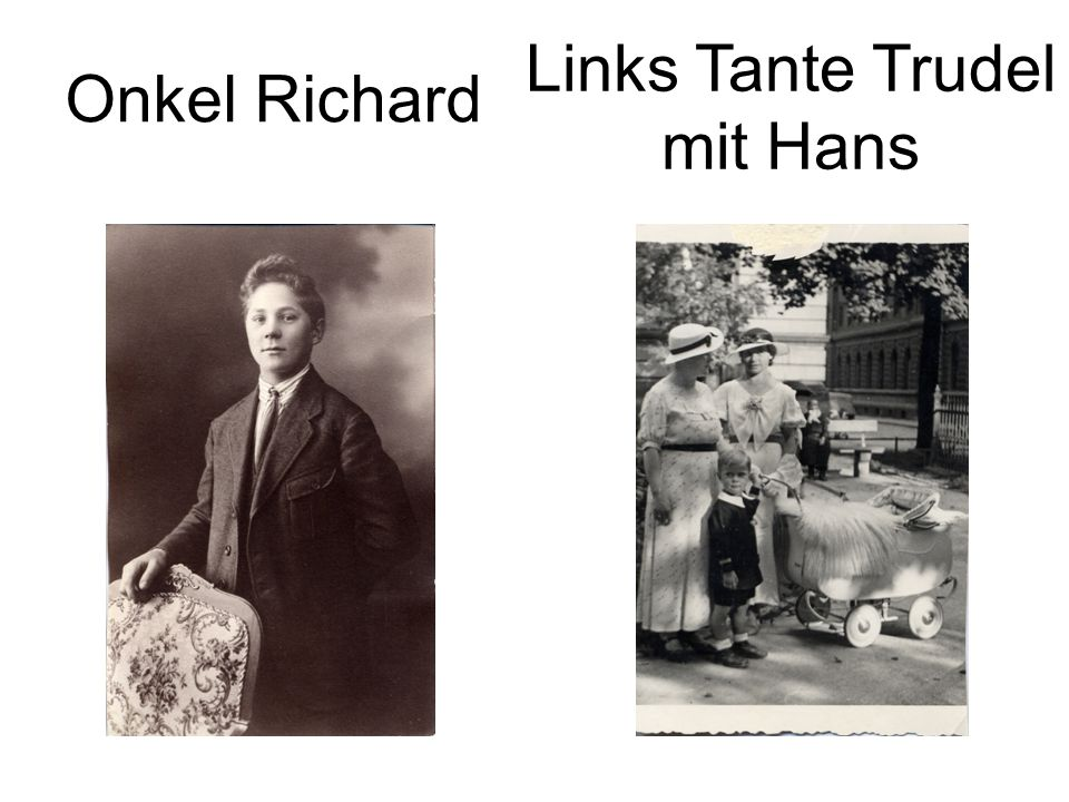 Links Tante Trudel mit Hans