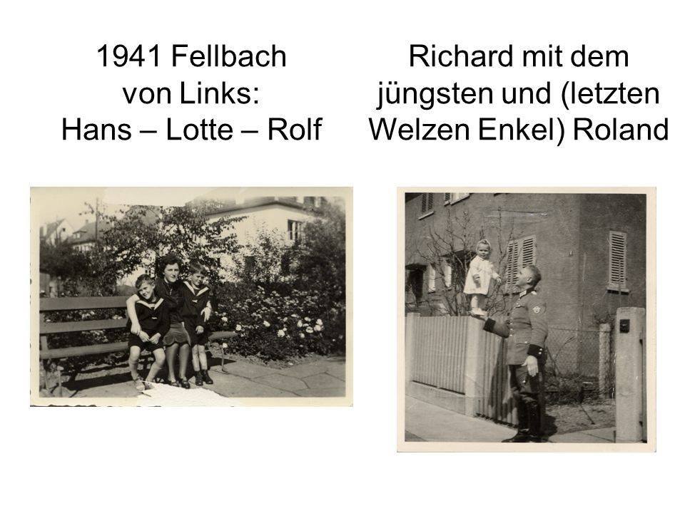 1941 Fellbach von Links: Hans – Lotte – Rolf