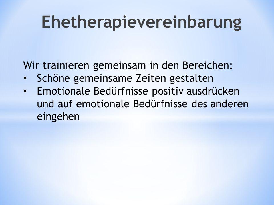 Ehetherapievereinbarung