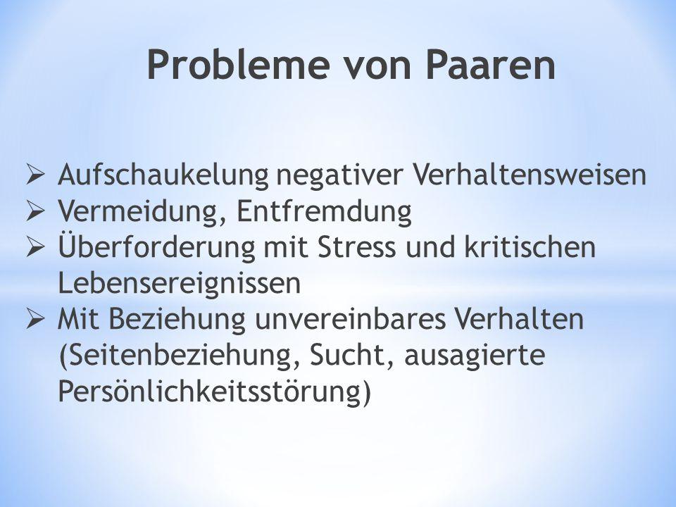 Probleme von Paaren Aufschaukelung negativer Verhaltensweisen