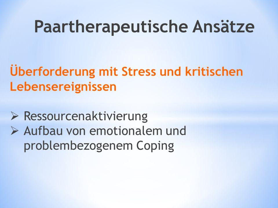 Paartherapeutische Ansätze