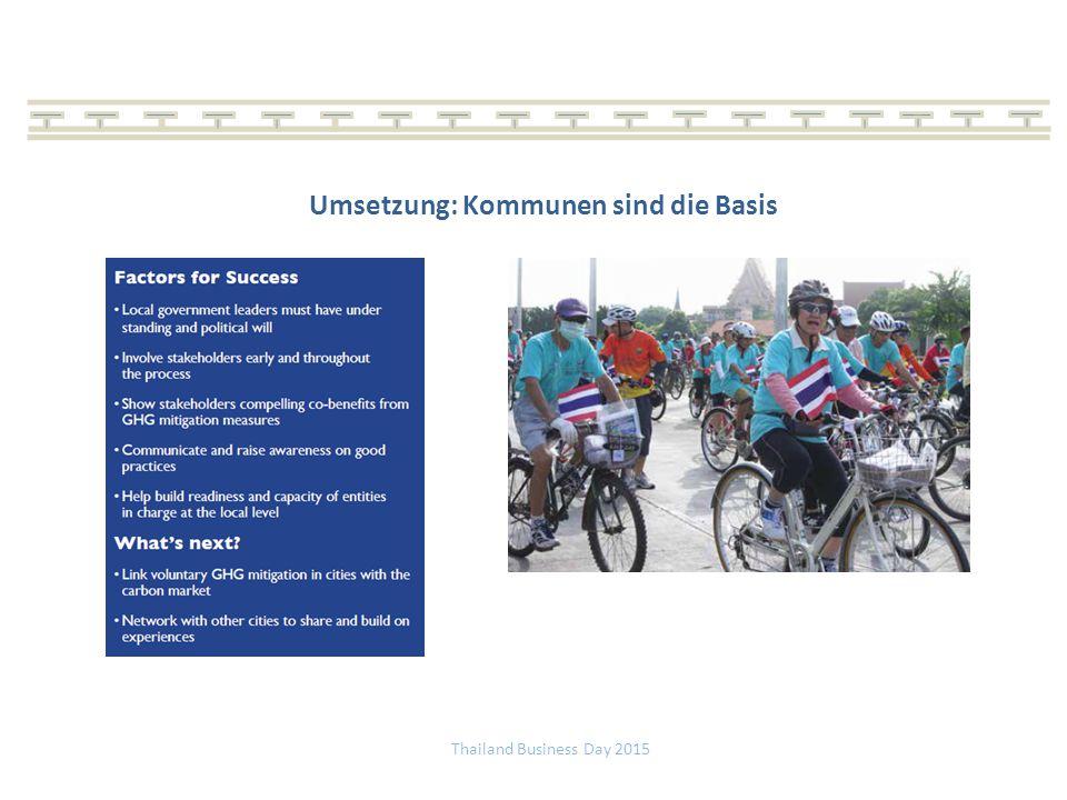 Umsetzung: Kommunen sind die Basis