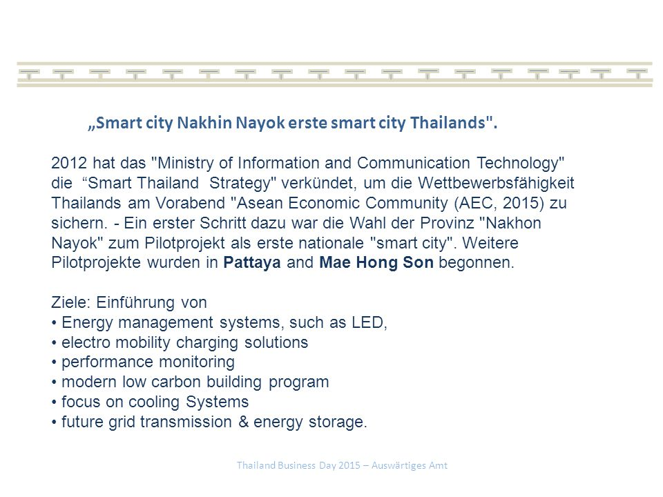 """Smart city Nakhin Nayok erste smart city Thailands ."