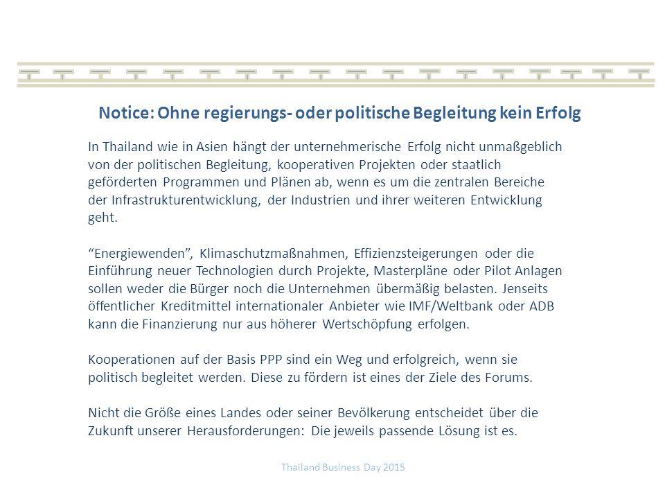 Notice: Ohne regierungs- oder politische Begleitung kein Erfolg