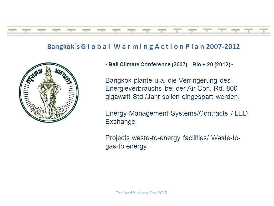 Bangkok`s G l o b a l W a r m i n g A c t i o n P l a n 2007-2012
