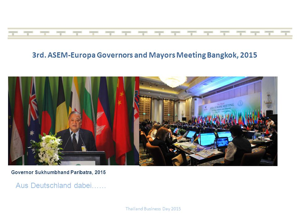 3rd. ASEM-Europa Governors and Mayors Meeting Bangkok, 2015