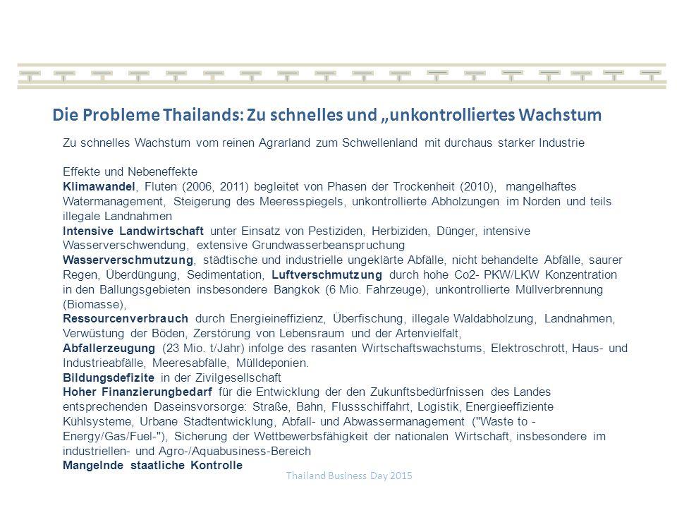 """Die Probleme Thailands: Zu schnelles und """"unkontrolliertes Wachstum"""
