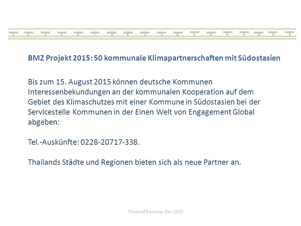 BMZ Projekt 2015: 50 kommunale Klimapartnerschaften mit Südostasien