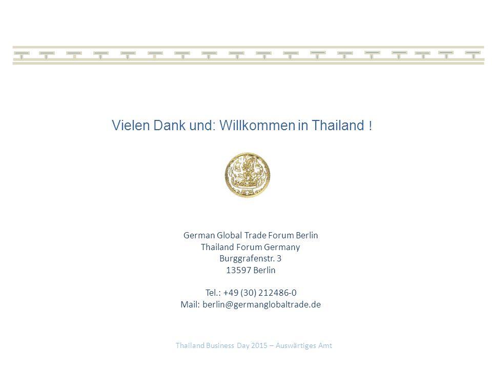 Vielen Dank und: Willkommen in Thailand !