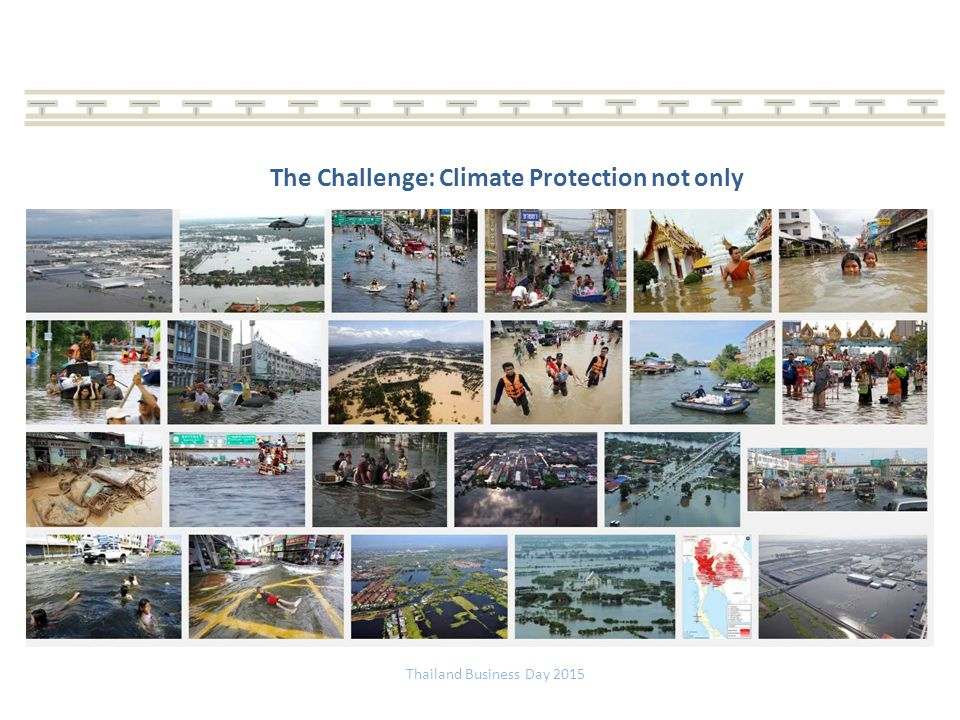 The Challenge: Climate Protection not only