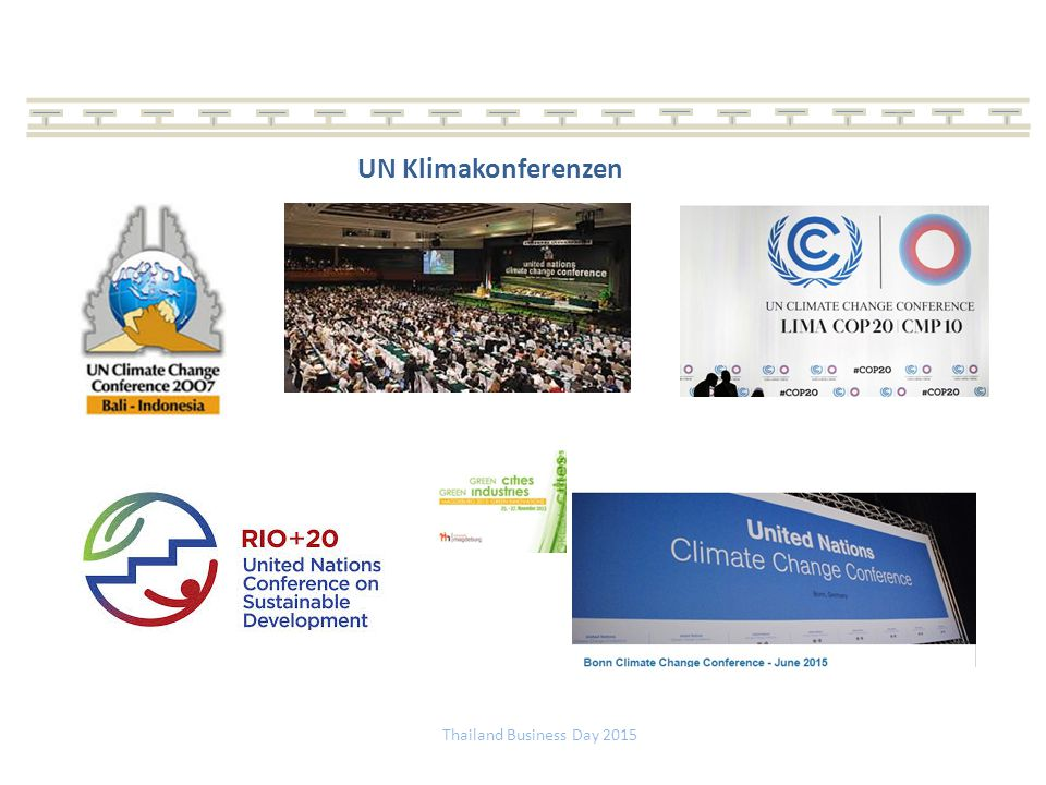 UN Klimakonferenzen Thailand Business Day 2015
