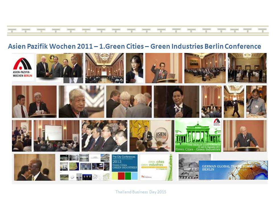 Asien Pazifik Wochen 2011 – 1.Green Cities – Green Industries Berlin Conference