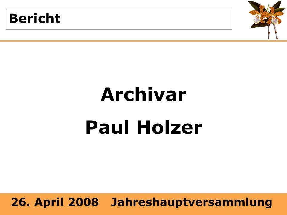 Bericht Archivar Paul Holzer