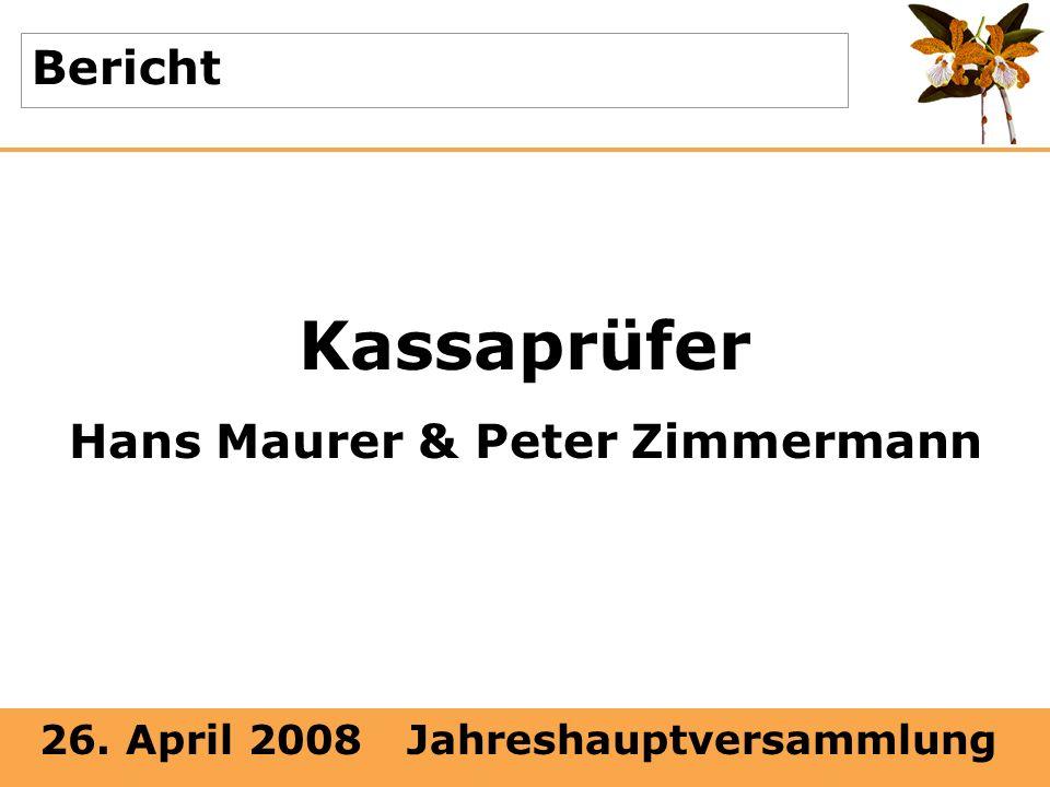 Hans Maurer & Peter Zimmermann
