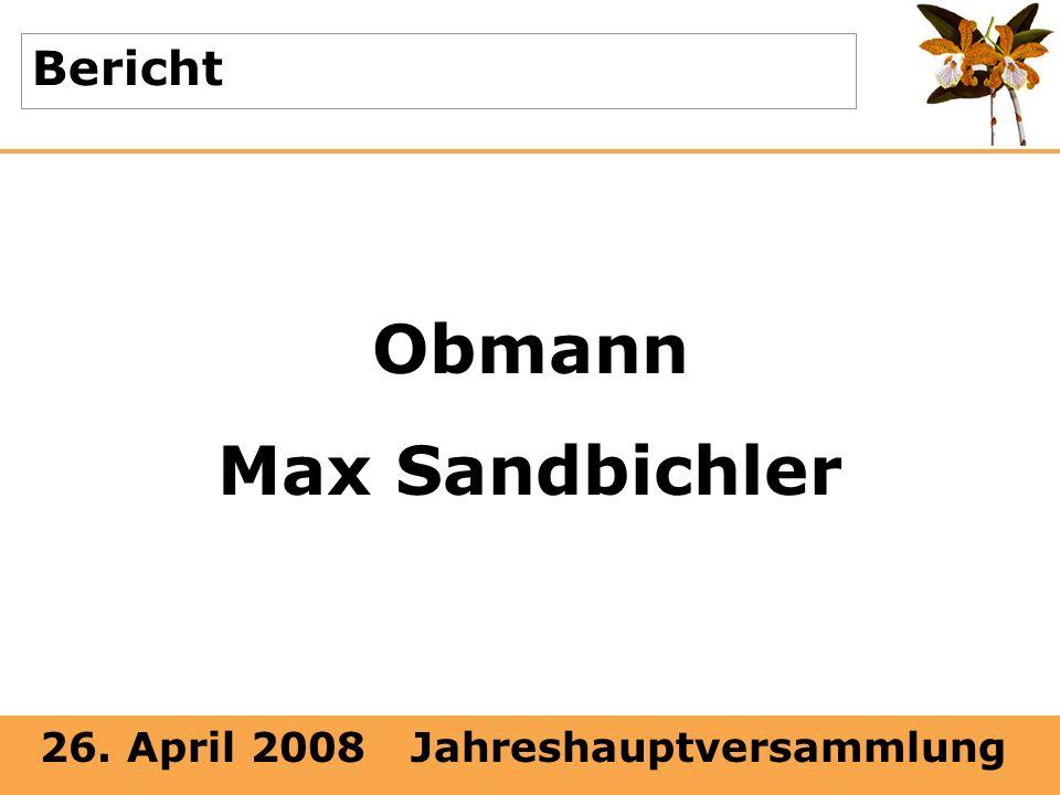 Obmann Max Sandbichler