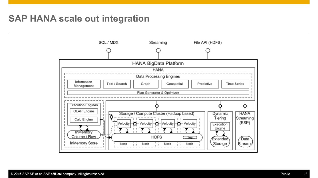 SAP HANA scale out integration