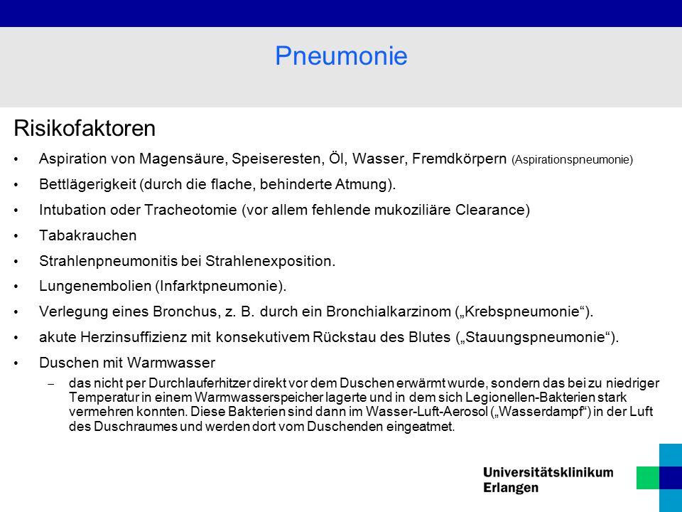 Pneumonie Risikofaktoren