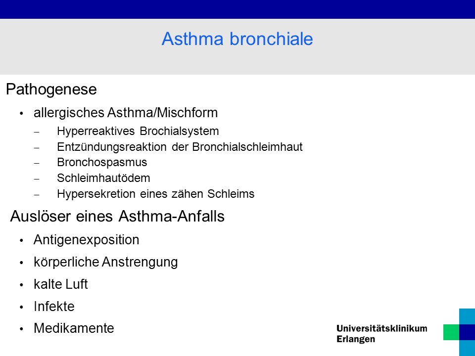 Asthma bronchiale Pathogenese Auslöser eines Asthma-Anfalls