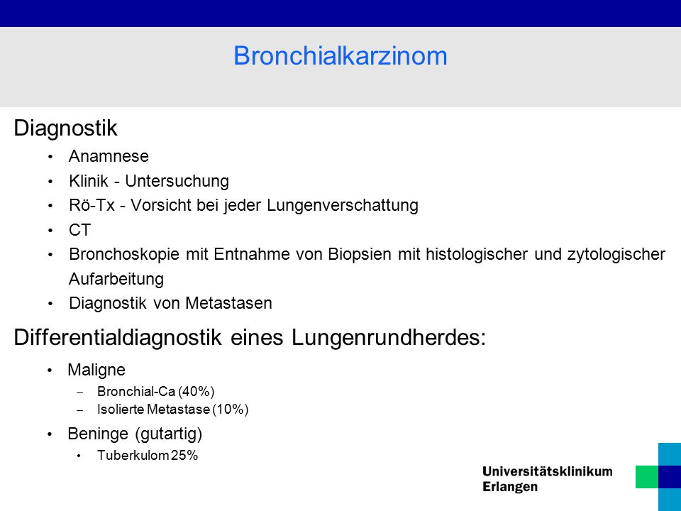 Bronchialkarzinom Diagnostik