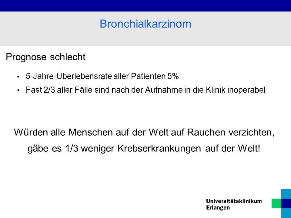 Bronchialkarzinom Prognose schlecht