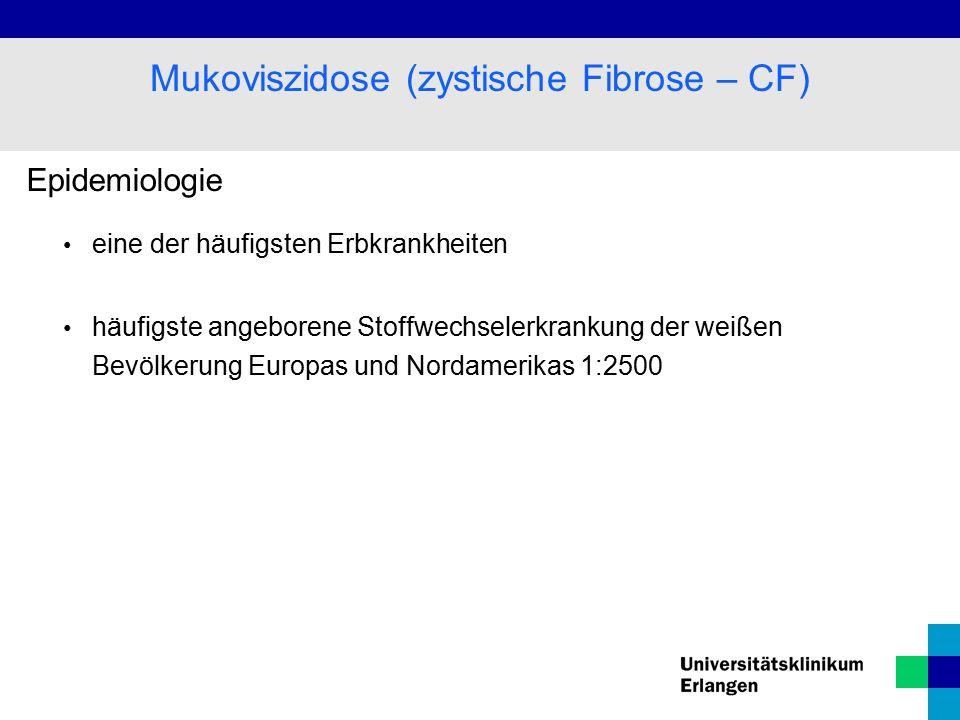 Mukoviszidose (zystische Fibrose – CF)