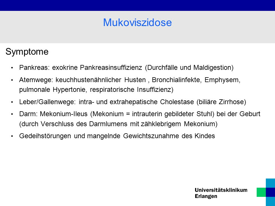Mukoviszidose Symptome