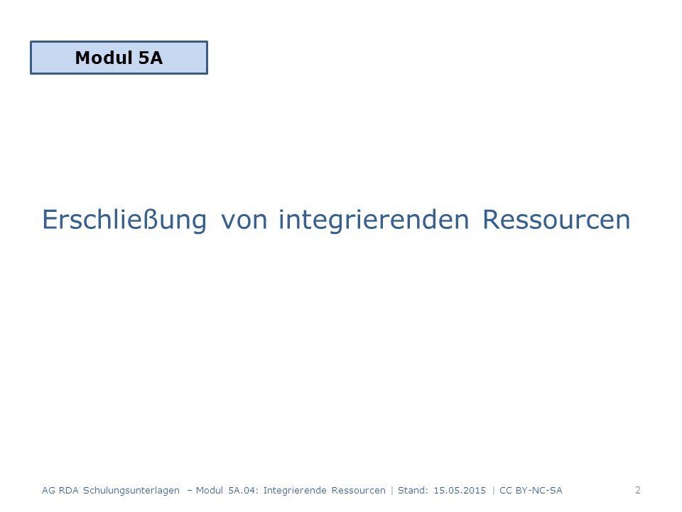 Erschließung von integrierenden Ressourcen