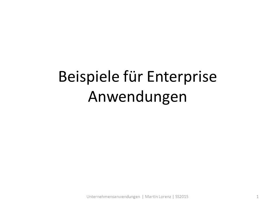 Beispiele für Enterprise Anwendungen