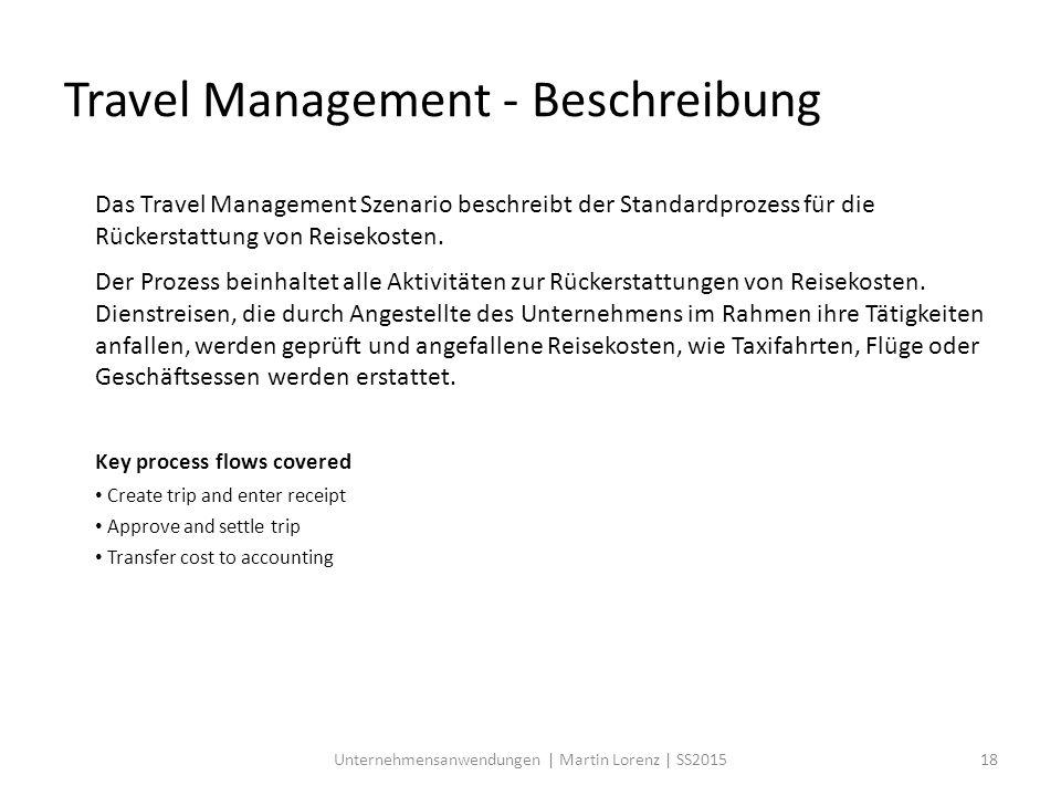 Travel Management - Beschreibung