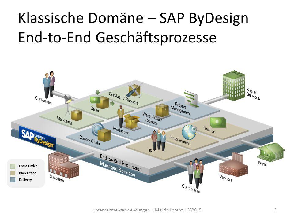 Klassische Domäne – SAP ByDesign End-to-End Geschäftsprozesse