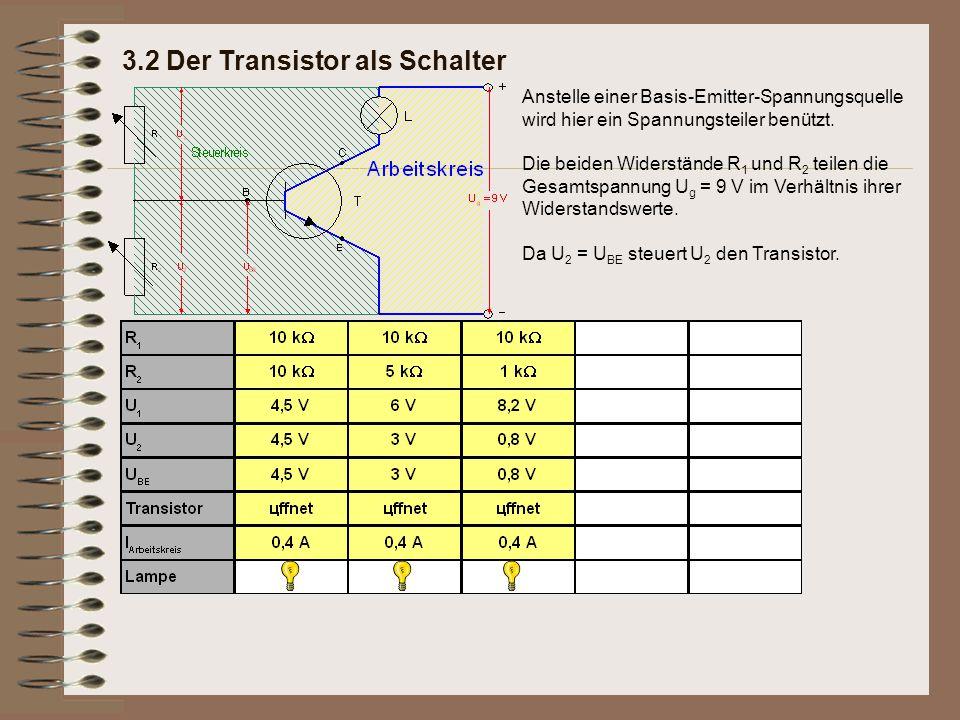 3.2 Der Transistor als Schalter