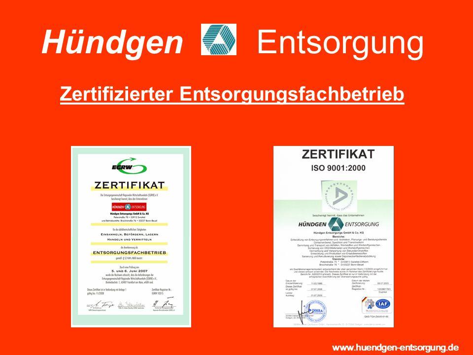 Hündgen Entsorgung Zertifizierter Entsorgungsfachbetrieb