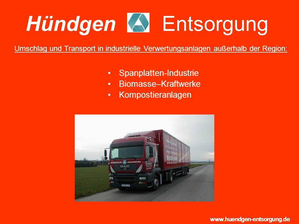 Hündgen Entsorgung Spanplatten-Industrie Biomasse–Kraftwerke