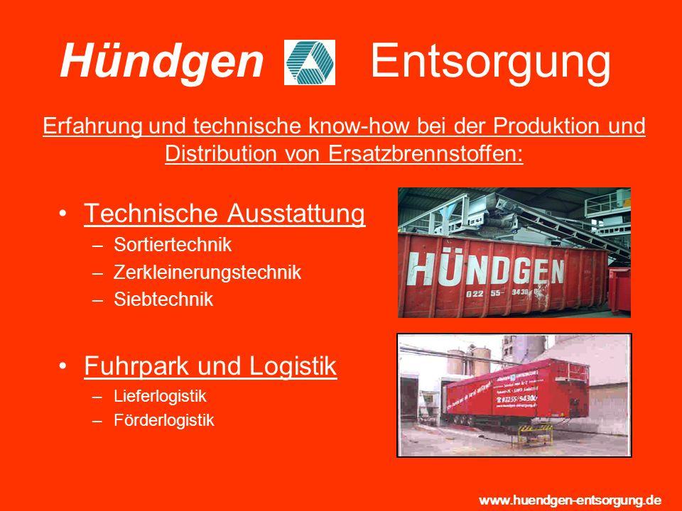 Hündgen Entsorgung Technische Ausstattung Fuhrpark und Logistik
