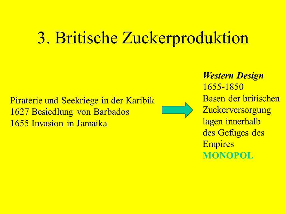 3. Britische Zuckerproduktion