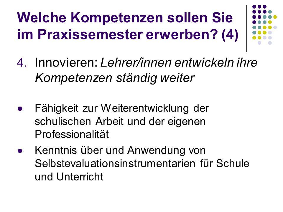 Welche Kompetenzen sollen Sie im Praxissemester erwerben (4)