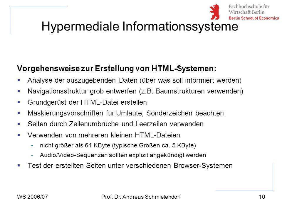 Hypermediale Informationssysteme